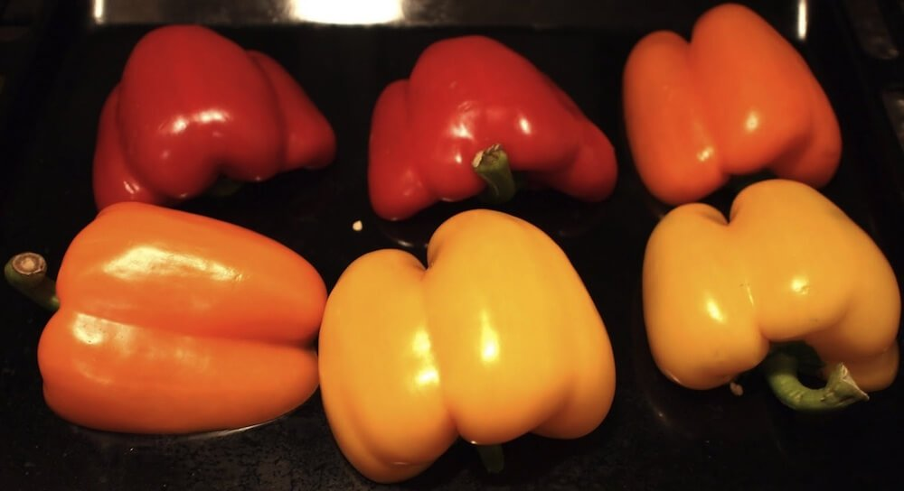 Insalata ai peperoni tricolori